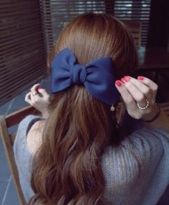 Pretty Solid Cloth Big Bow Hair Clip For Women - 7 Colors