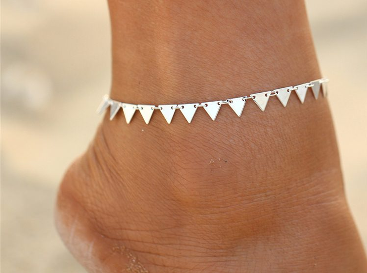 Charming Triangle Geometry Fashion Anklet