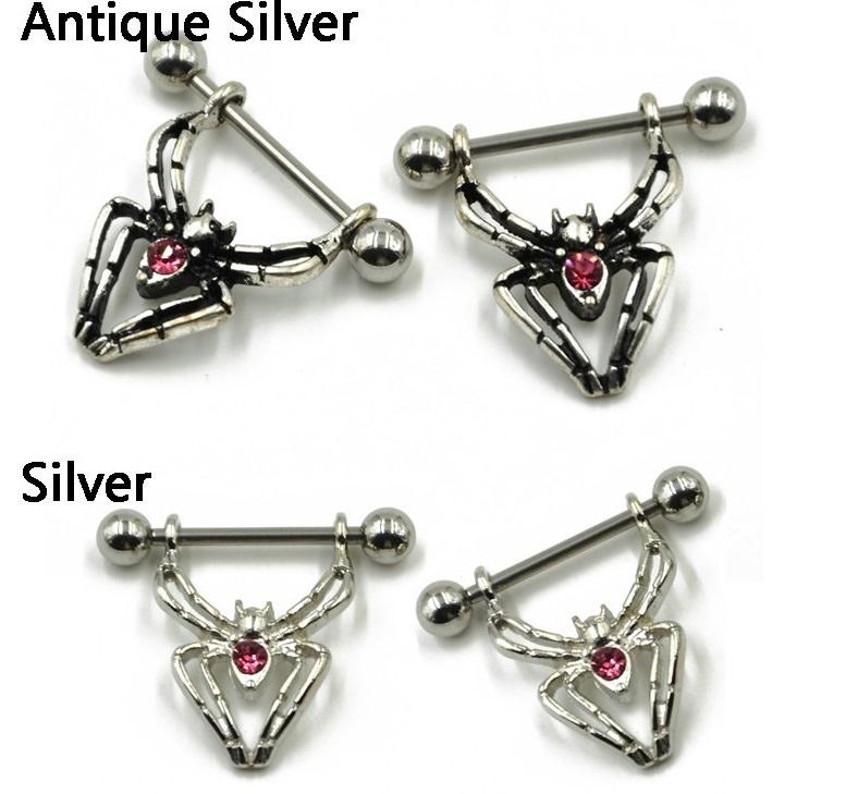 HTB1aJl8LXXXXXa_XXXXq6xXFXXXg Sexy Spider Bites Piercing Nipple Ring Jewelry - 2 Colors