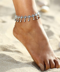 silver ankle bracletes