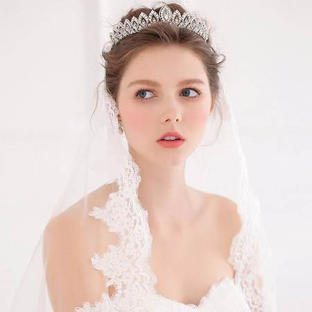 Women Brilliant Gem Pearl Encrusted Wedding Bridal Bridesmaid Headband Tiara Crown