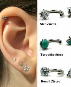 Circular Barbell Horseshoe Ring Ear Piercing