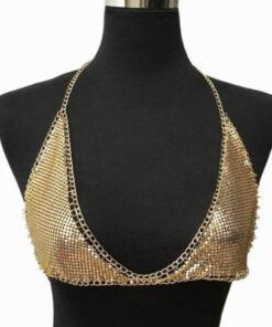 Metal Slice Boho Chain Bra Necklace