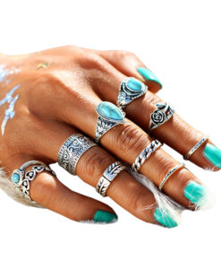10-Pieces-Vintage-Tibetan-Turquoise-Knuckle-Ring-Set-For-Women-247x300 Latest on Sale