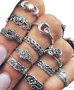 11-Pieces-Boho-Chic-Spirituality-Silver-Plated-Antique-Stackable-Ring-Set-247x300 Latest on Sale