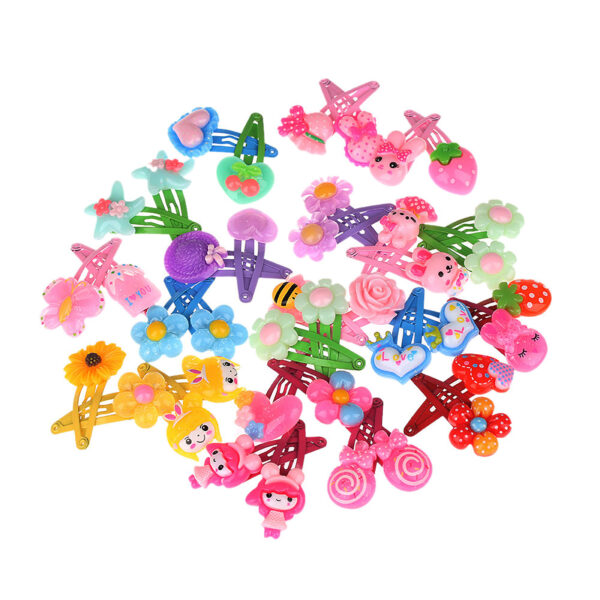 12 Pieces Mix Colorful Fruit Flower Star Animal Fish Ribbon