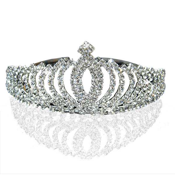 85461cd453c5 Romantic Peach Rhinestone Crystal Bridal Pageant Prom Cosplay Crown Tiara