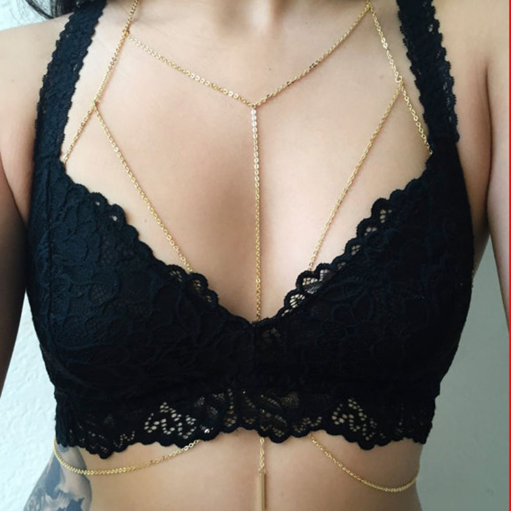Silver-or-Gold-Body-Chain-Jewelry-For-Women-with-Elegant-Long-Drop-Pendant2 Body Chain Store