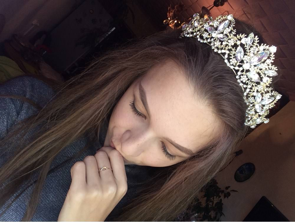 UTB8Q8IdXgnJXKJkSaelq6xUzXXa6 Gold Crown Princess Tiara Headband, Vintage Baroque Diadem Crown For Women + 2 FREE Hair Pins