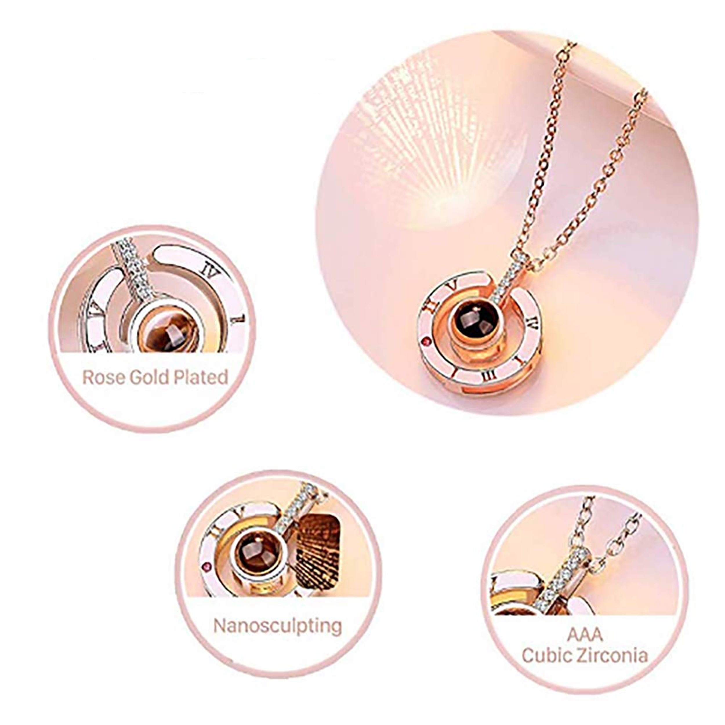 61DVBTmO0sL._UL1001_ I Love You Necklace 100 Languages Gift Set | Nano Jewelry Projection Necklace | Romantic Gifts for Her