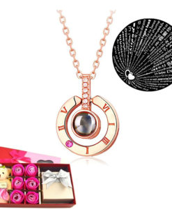 Circle-Rose-Gold-Projection-Necklace-I-love-you-100-languages-247x300 Body Chain Store