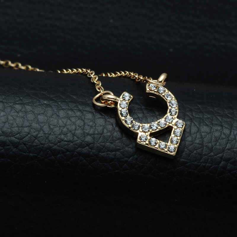DSC_2549 Rhinestone Encrusted Taurus Constellation Necklace For Women