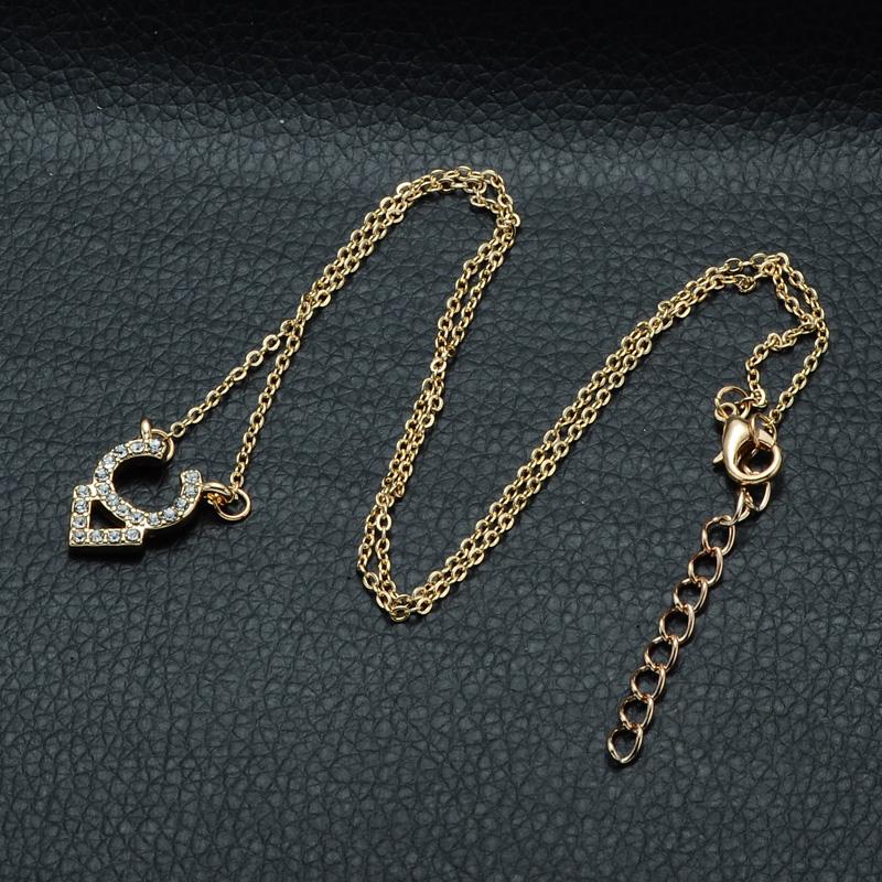 DSC_2551 Rhinestone Encrusted Taurus Constellation Necklace For Women