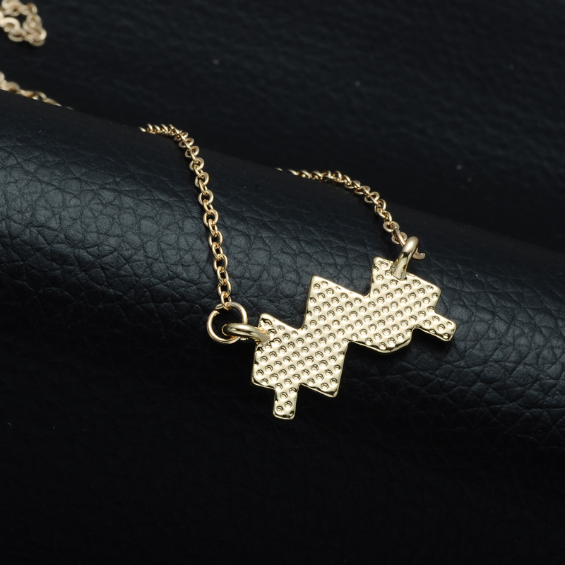 DSC_2565 Rhinestone Encrusted Aquarius Zodiac Constellation Necklace For Women