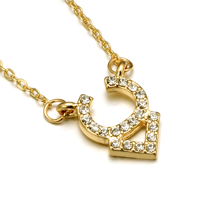 N08014 Rhinestone Encrusted Taurus Constellation Necklace For Women