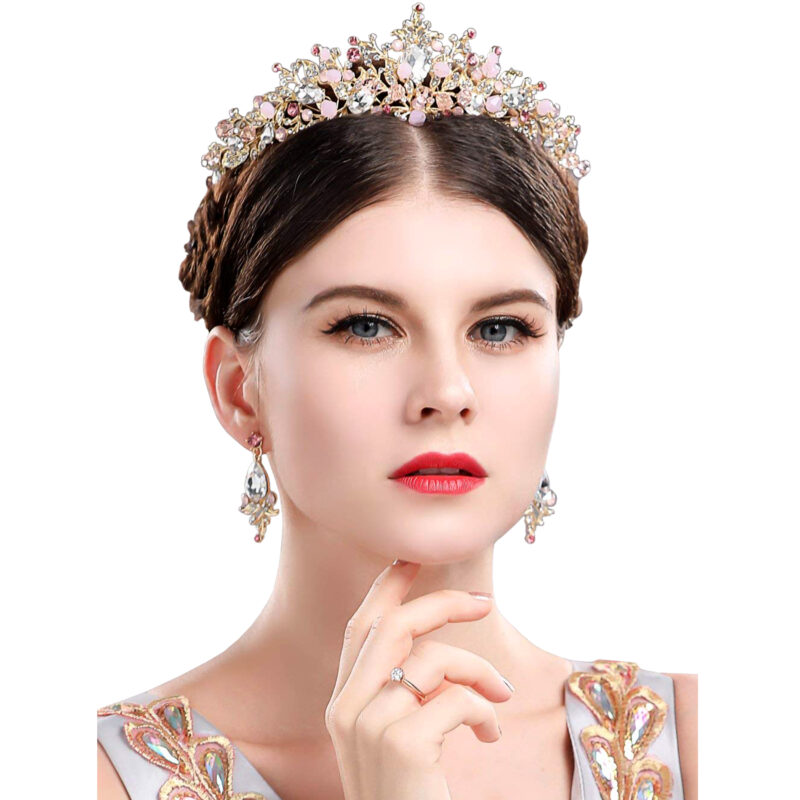 Gold-Princess-Crown-Tiara-with-Matching-Earring-Set-800x800 Latest on Sale