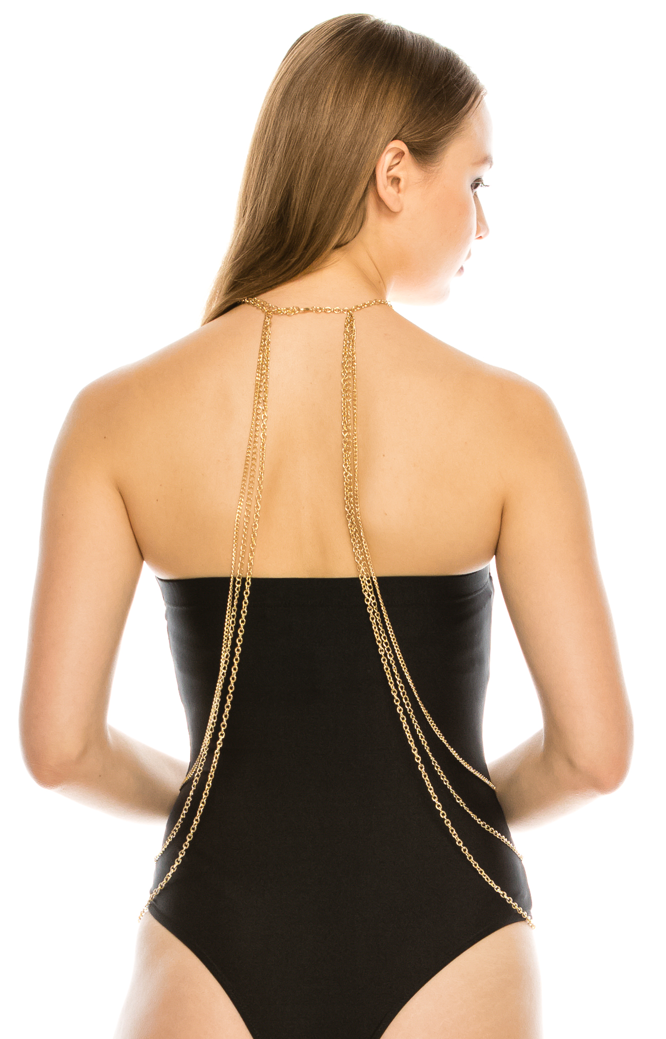 body-chain-6 Gold Body Chain & Statement Necklace Body Jewelry for Women