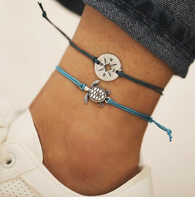 1 Bohemian Barefoot Beach Sandals Anklet Jewelry