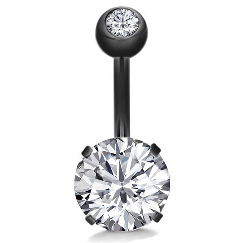 18 Pretty CZ Crystal Flower Body Jewelry Belly Button Dangle Drop Ring