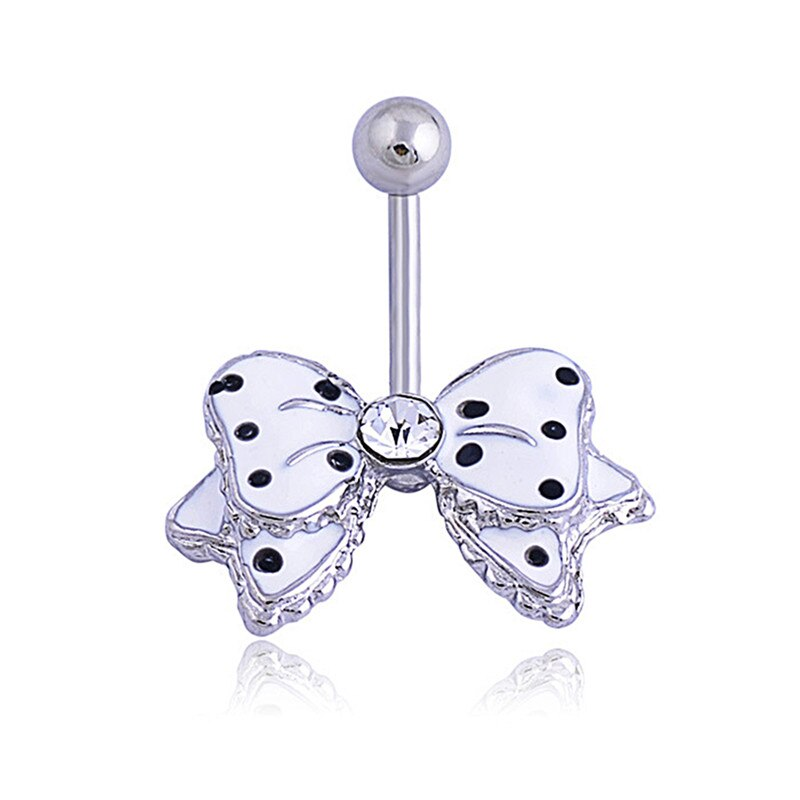 31 Pretty CZ Crystal Flower Body Jewelry Belly Button Dangle Drop Ring