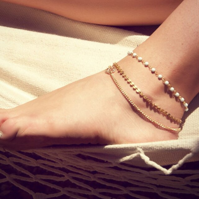 3G Bohemian Barefoot Beach Sandals Anklet Jewelry