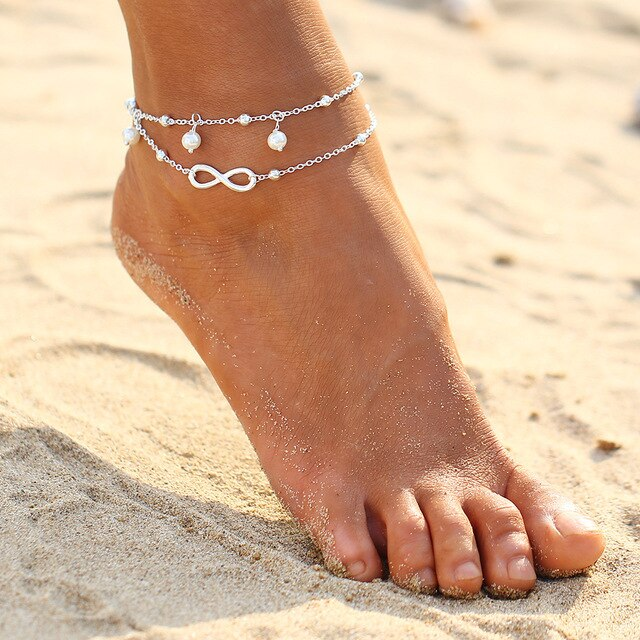 5S Bohemian Barefoot Beach Sandals Anklet Jewelry