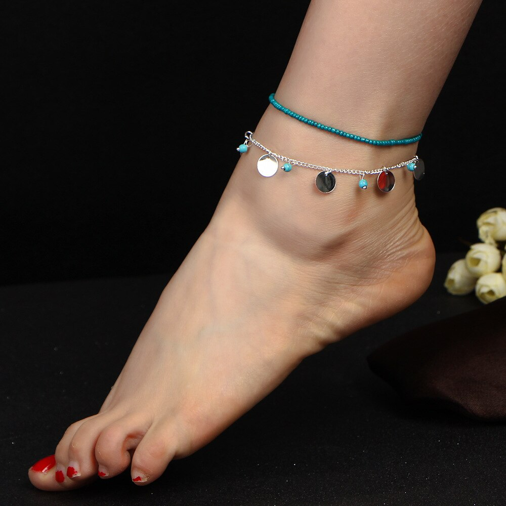 7S Bohemian Barefoot Beach Sandals Anklet Jewelry