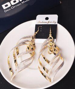 Fashion-Women-Earrings-Gold-Filled-Spiral-Scrub-Long-Dangle-Drop-Earrings-Jewelry-Gifts-Beautiful-Oorbellen-Flawless-247x296 Latest on Sale