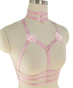 Original-Design-Pink-Collar-Bow-Harness-Bra-Kawaii-Open-Chest-Bondage-Body-Cage-Pastel-Gothic-Body-1-247x296 Latest on Sale