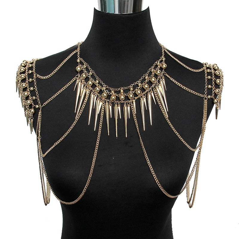 Punk-Type-Women-Sexy-Body-Jewelry-Multi-Layers-Nail-Pendant-Tassel-Chain-Necklaces-Vintage-Statement-Accessories-1 Latest on Sale
