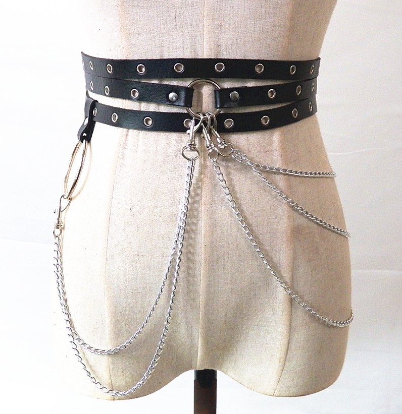 1538802194419 Sexy New Punk Style Concave Shape Waist Chain Female Belt