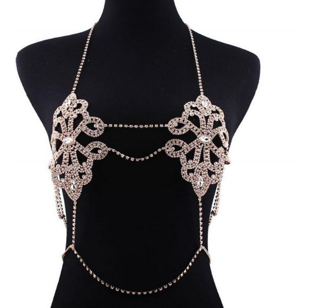 2275843672266 Luxury Harness Bikini Rhinestone Bralette Body Chain Jewelry