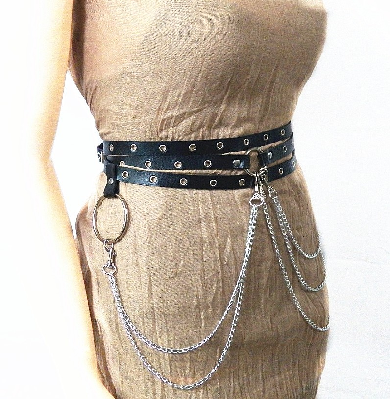 2581811463714 Sexy New Punk Style Concave Shape Waist Chain Female Belt