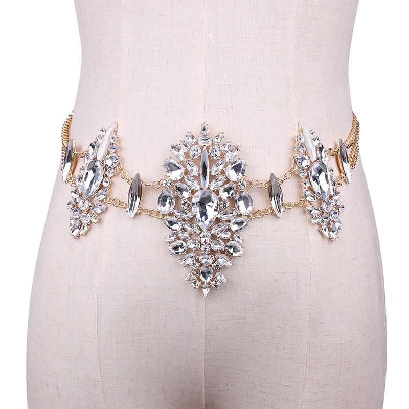 3958007812_669602093 Sexy Crystal Rhinestone Women Waist Chain Body Jewelry