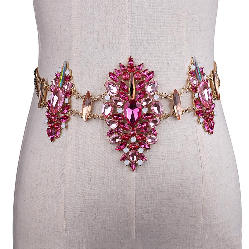 3958022111_669602093 Sexy Crystal Rhinestone Women Waist Chain Body Jewelry