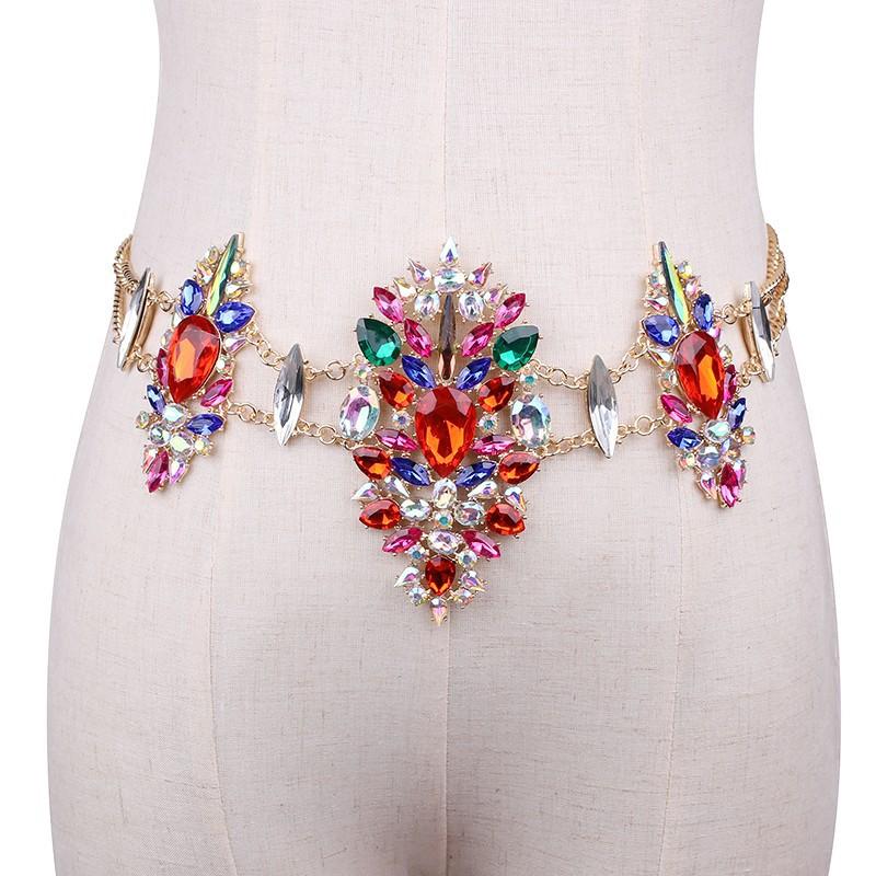 3958903764_669602093 Sexy Crystal Rhinestone Women Waist Chain Body Jewelry
