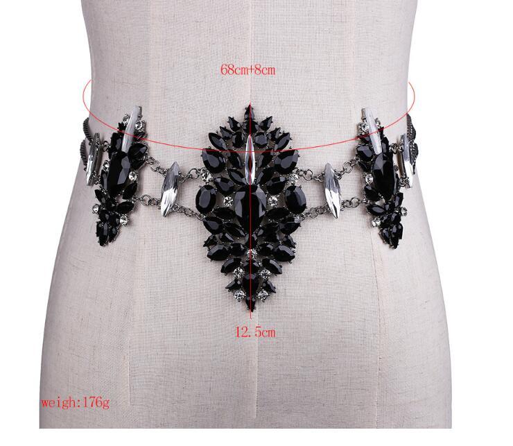 780616554068 Sexy Crystal Rhinestone Women Waist Chain Body Jewelry