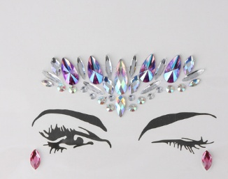 1148130797000 Breast Jewel Decoration Rhinestone Chest Sticker Temporary Tattoo