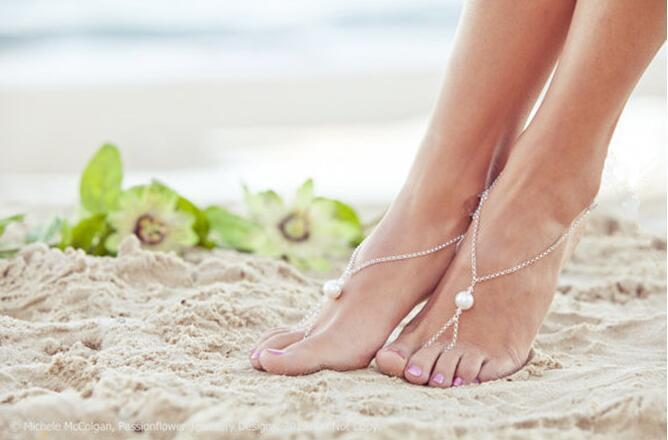 3216432187609 Cute Elegant Big Simulated-pearl Foot Jewelry Anklet Bracelet