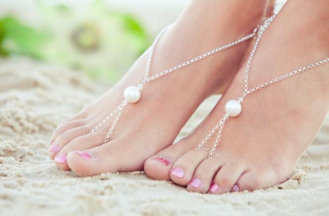 665425905552 Cute Elegant Big Simulated-pearl Foot Jewelry Anklet Bracelet